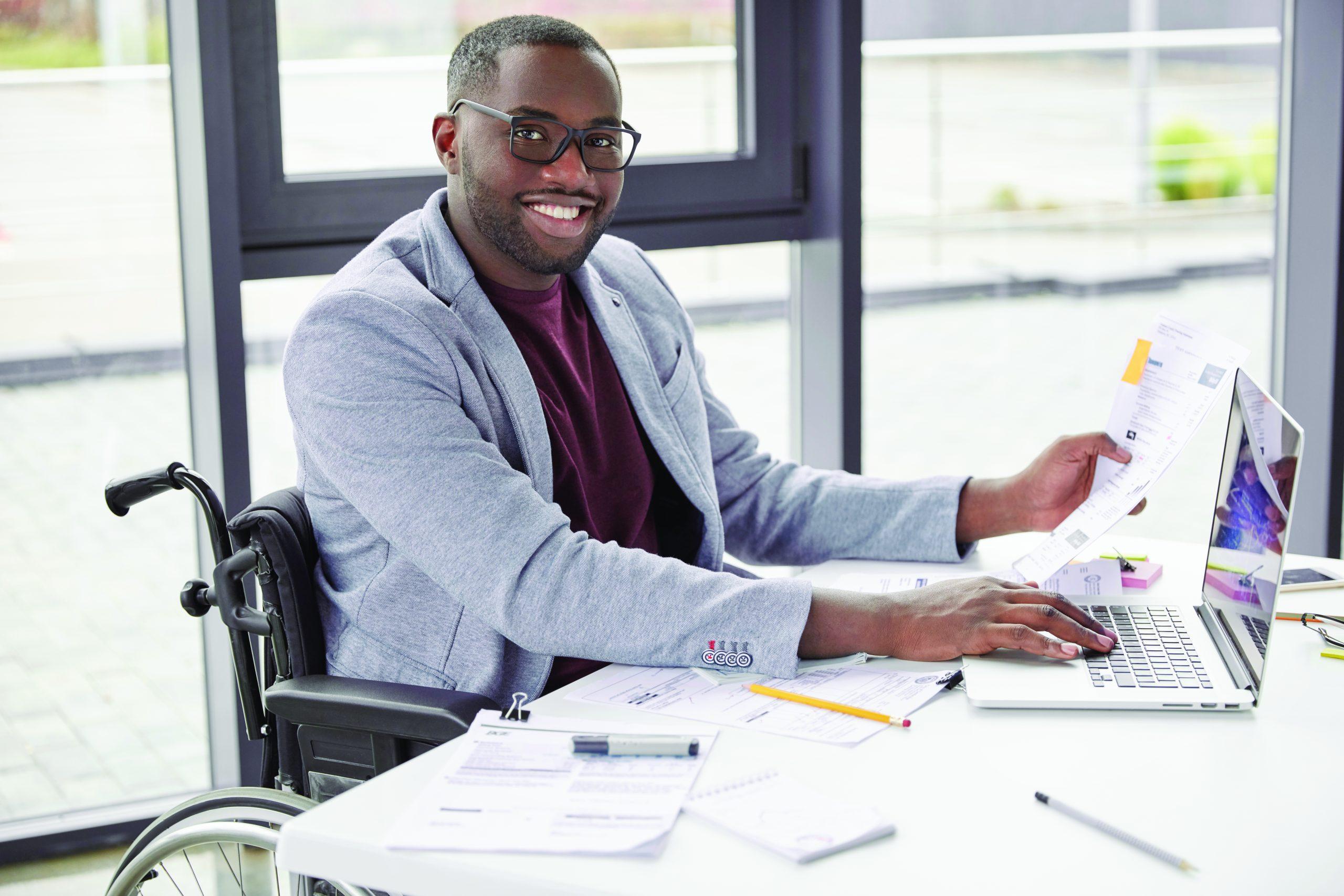 man at desk working