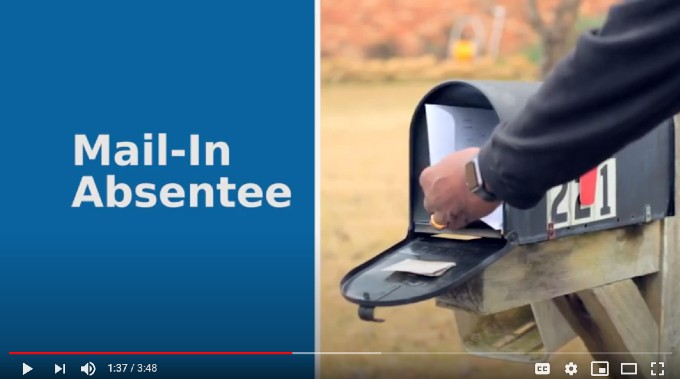 ballot being put in mailbox